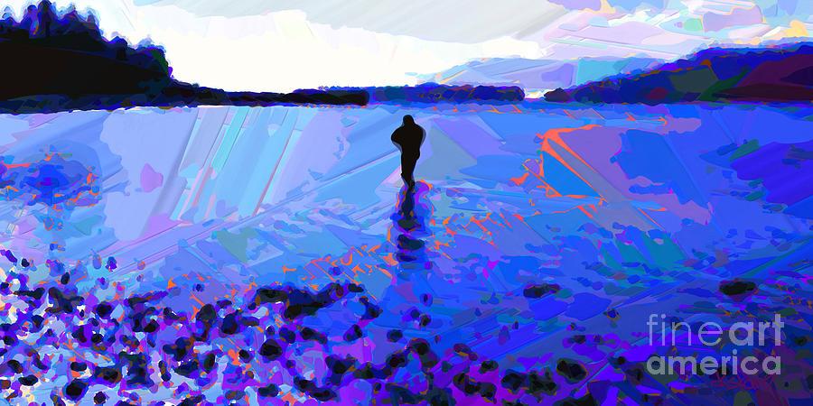 Solitude In Blue Painting - Solitude In Blue by Dorinda K Skains