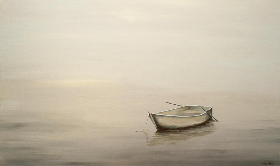 Boat Painting - Solitude by Katrina Nixon