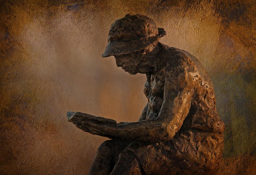 Statue Photograph - Solitude by Liz Mackney