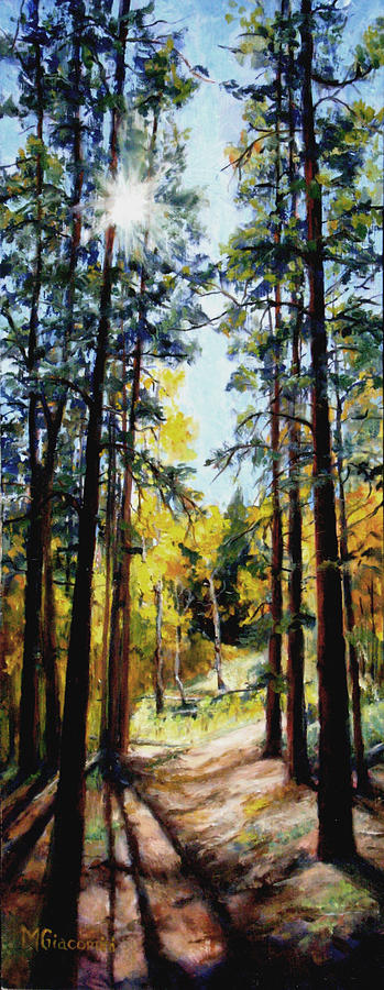 Trees Painting - Solitude by Mary Giacomini