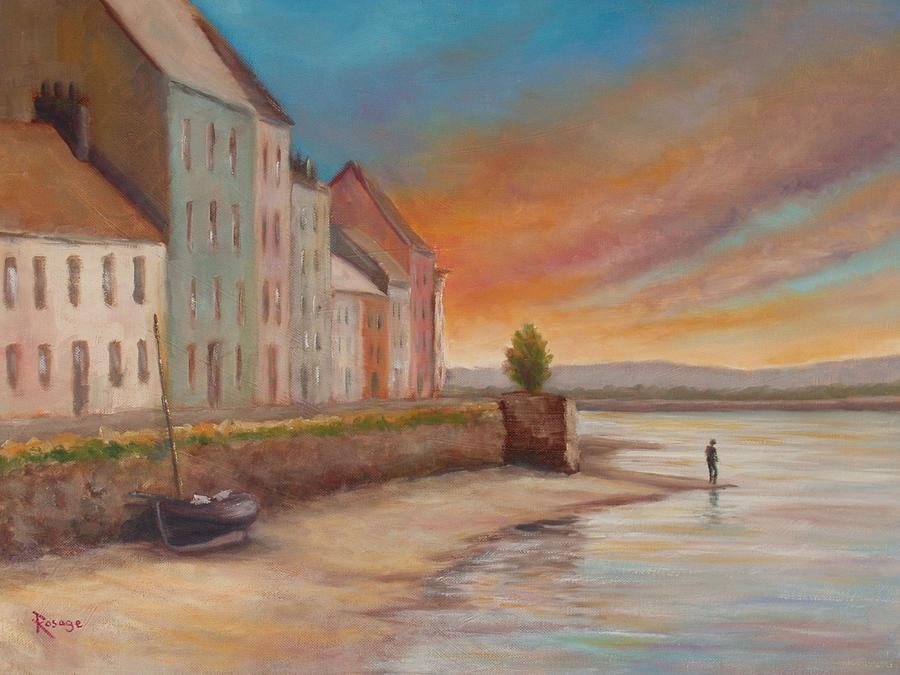 Ireland Painting - Solitude Near The Long Walk by Bernie Rosage Jr