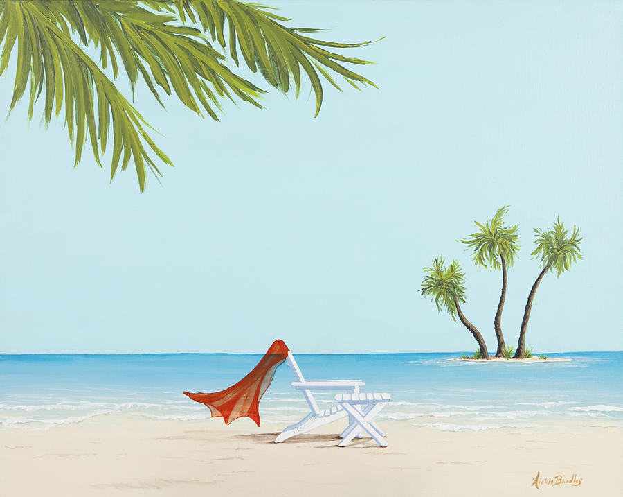 Tropical Painting - Solitude by Nickie Bradley