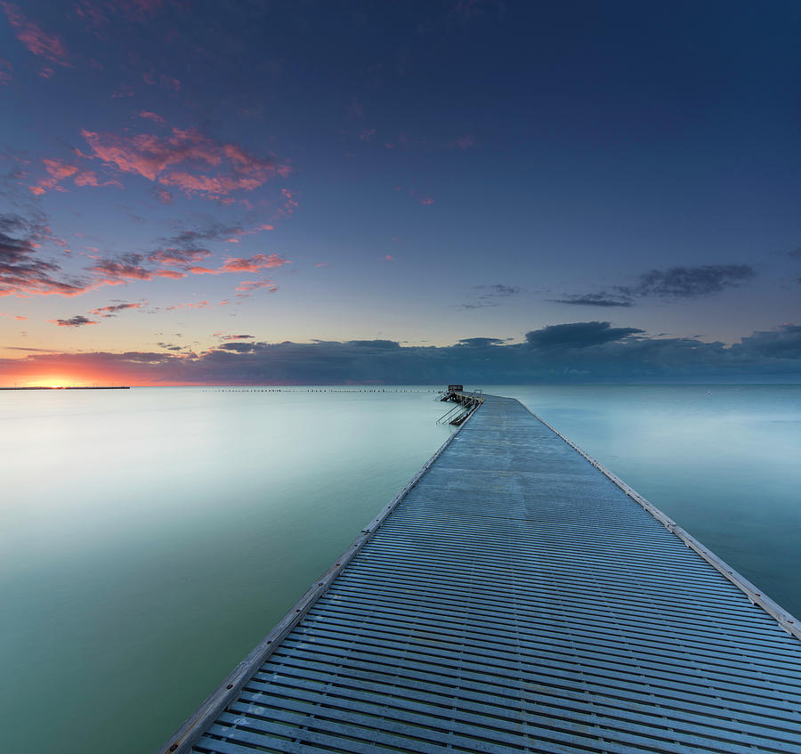Pier Photograph - Solitude3 by Alexandru Popovski