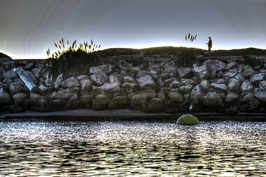 Beach Photograph - Solo At The Harbor At Dusk 2 by SC Heffner