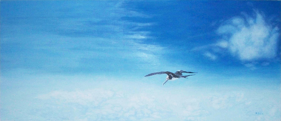Bird Painting - Solo Flight by Mike Durco