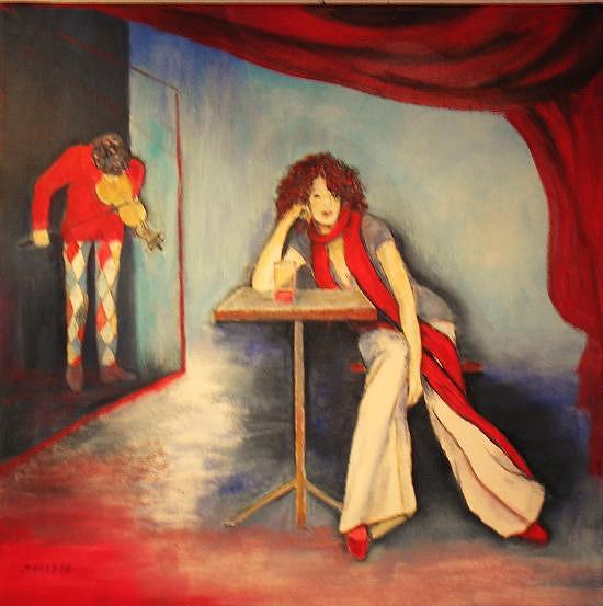 Harlekin Painting - Solo For Violin by Dagmar Helbig