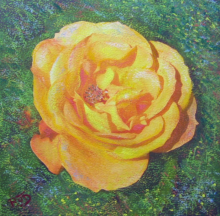 Solo Orange Rose Painting