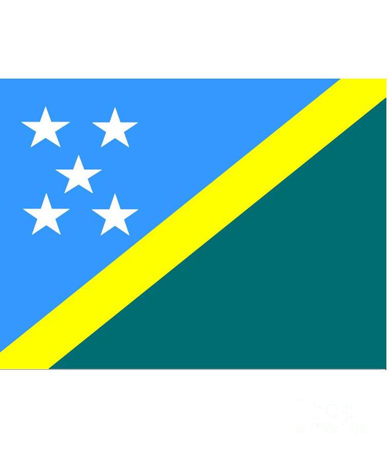 Solomon Island Digital Art - Solomon Island Flag by Frederick Holiday