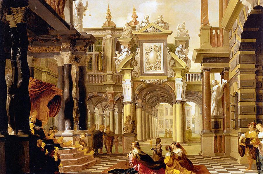 Solomon Receiving The Queen Of Sheba Digital Art By Dirck