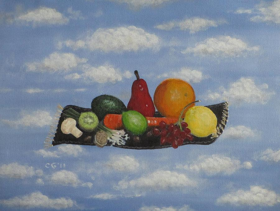 Flying Painting - Solomons Flying Feast by Christina Glaser