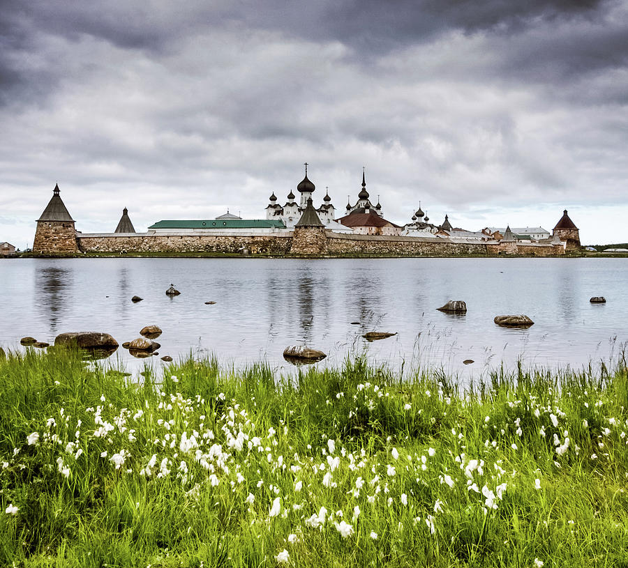 Solovetsky Monastery At Holy Lake Photograph by Mordolff