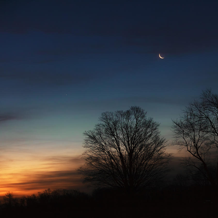 Square Photograph - Solstice Moon Square by Bill Wakeley