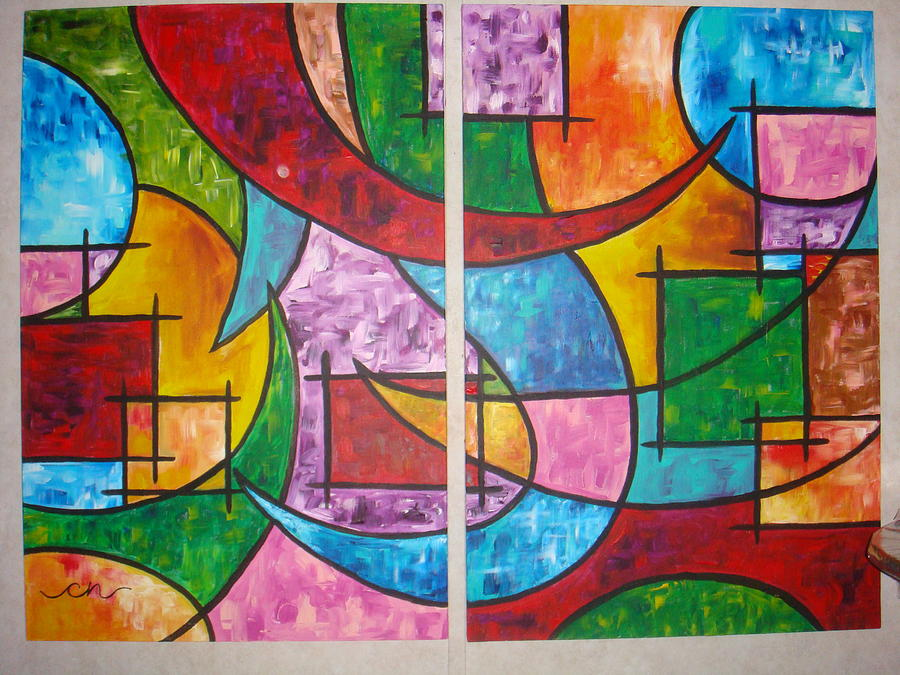 Abstract Painting - Solution To Sanity by Catherine Nichols