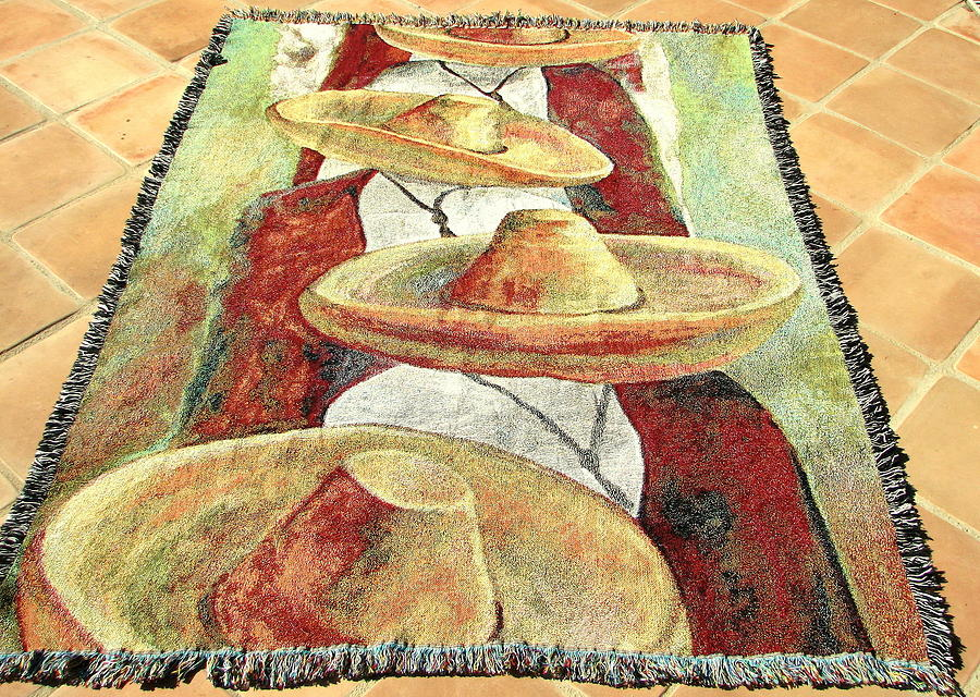 Mexican Tapestry Tapestry - Textile - Sombrero Tapestry by Jodie  Scheller