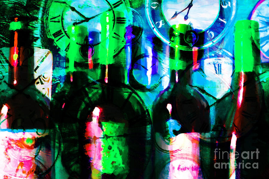 Wine Photograph - Some Things Get Better With Time P138 by Wingsdomain Art and Photography