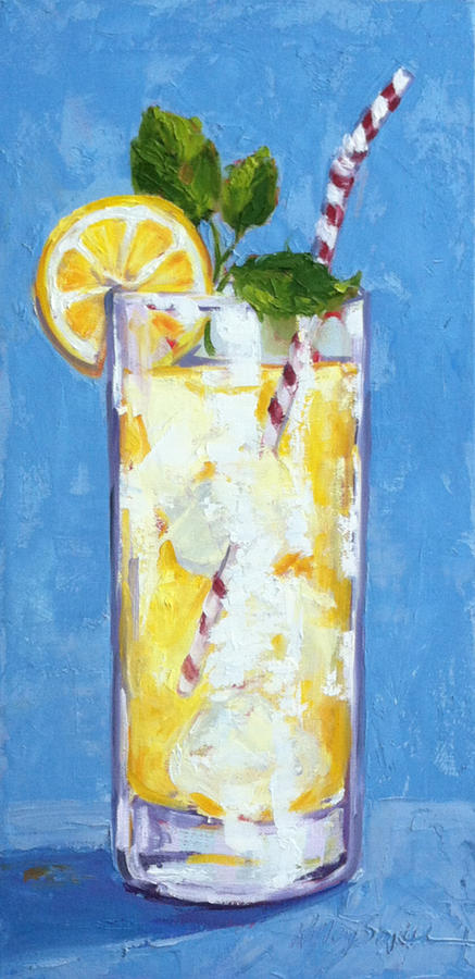 Lemonade Painting - Something Cool To Drink by Kelley Smith