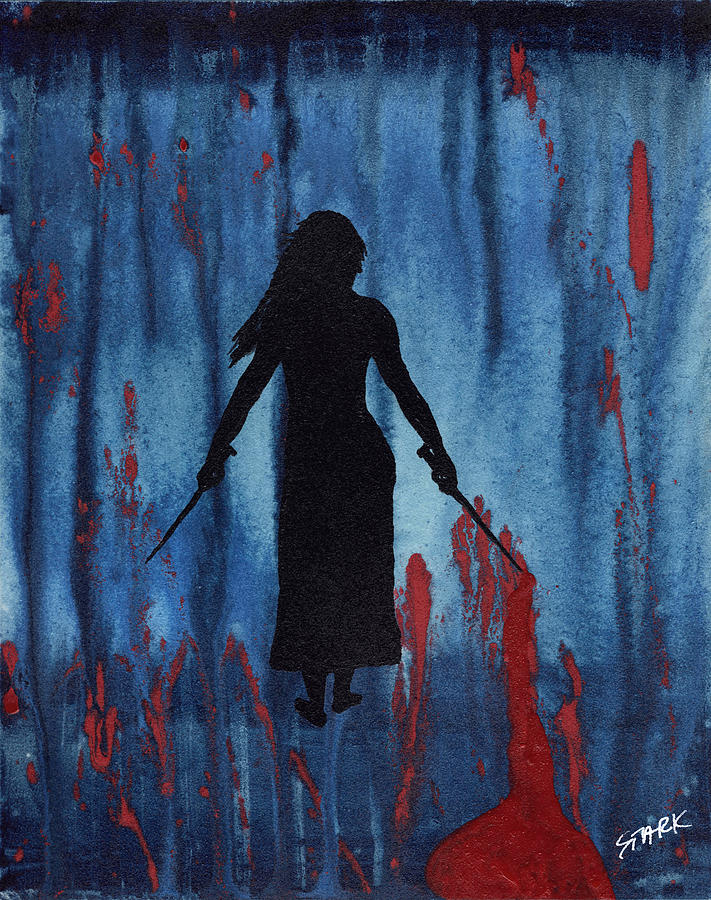 Woman Painting - Something Wicked This Way Comes by Jim Stark