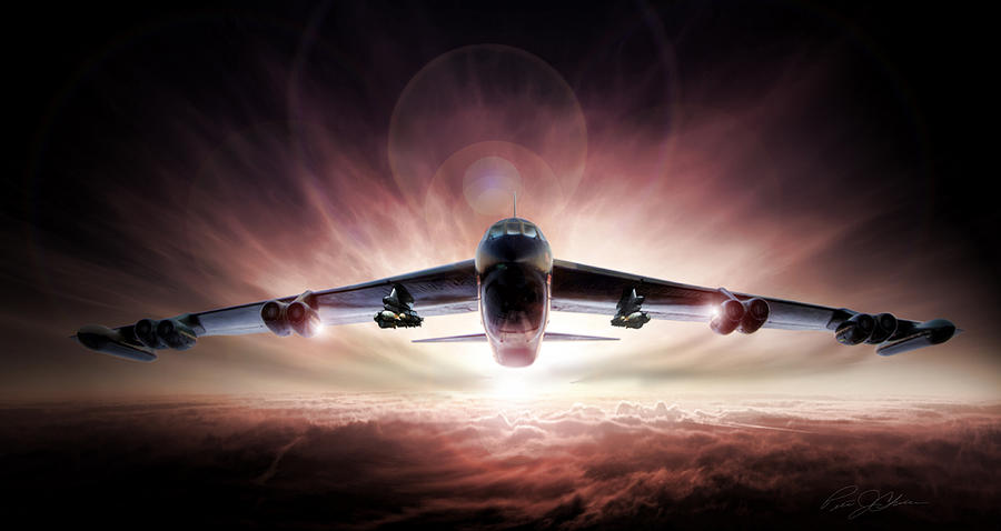 Boeing Digital Art - Something Wicked This Way Comes by Peter Chilelli