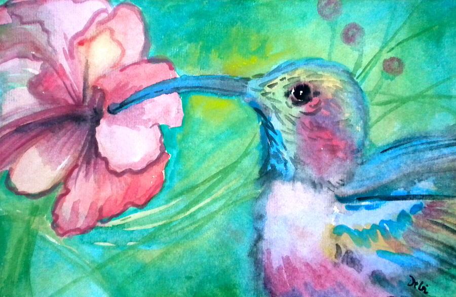 Something's Humming Painting - Somethings Humming by Debi Starr