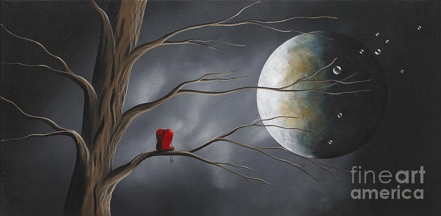 Hearts Painting - Sometimes He Just Wants To Be Alone By Shawna Erback by Erback Art