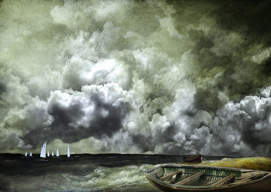 Boats Photograph - Sometimes Your Luck Runs Out by Jeff Burgess