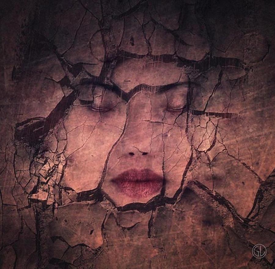 Woman Digital Art - Sometimes Your Whole Life Cracks by Gun Legler