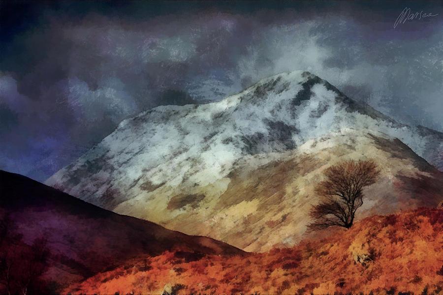 Mountains Digital Art - Somewhere In Scotland by Marina Likholat