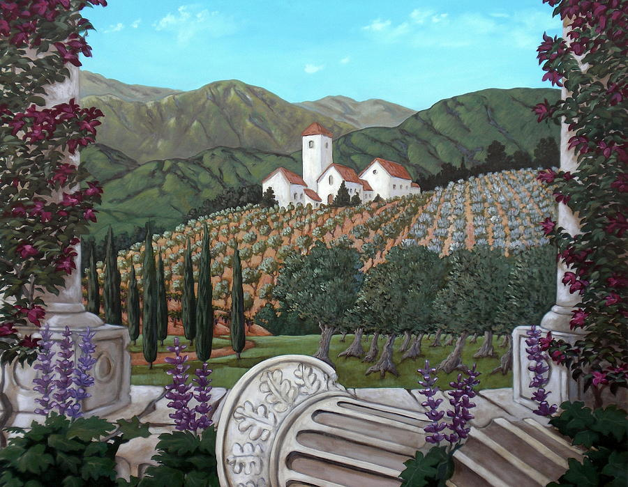 Italian Landscape Painting - Somewhere In Tuscany by Gerry High