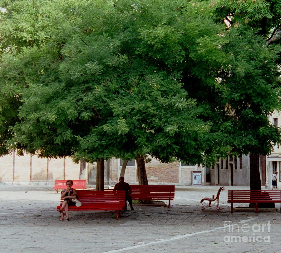 Green Trees Painting - Somewhere In Venice by Michael Swanson