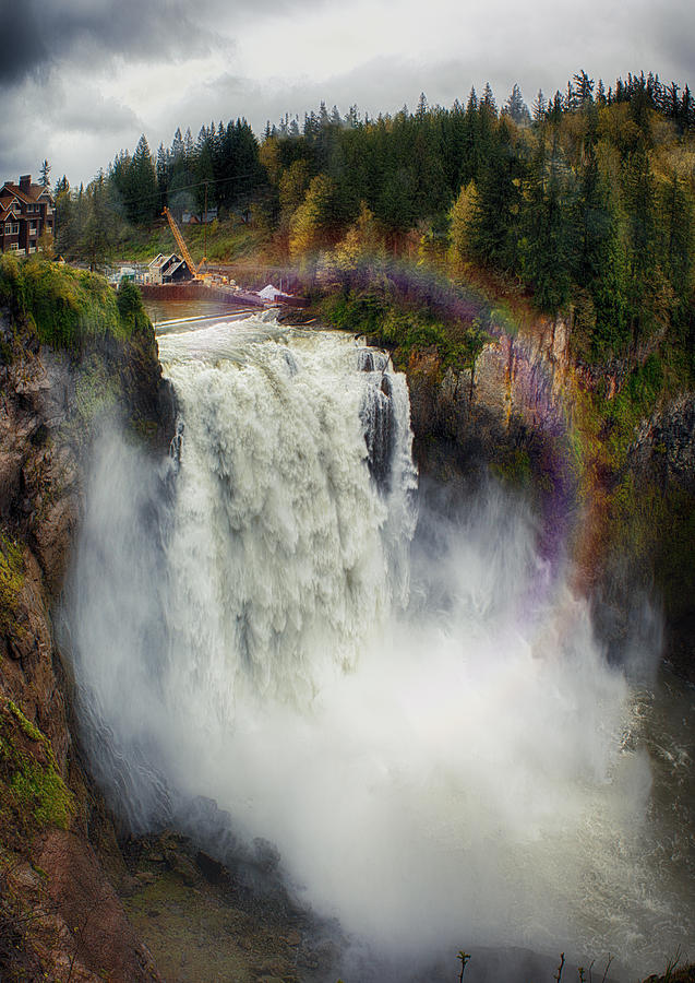 Somewhere Over The Falls Photograph by James Heckt