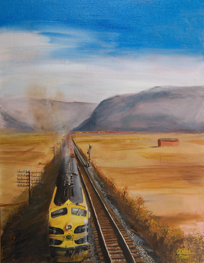 Train Painting - Somewhere West Of Corning by Christopher Jenkins