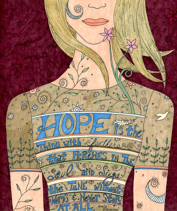 Woman Mixed Media - Song Of Hope by Valerie Lorimer