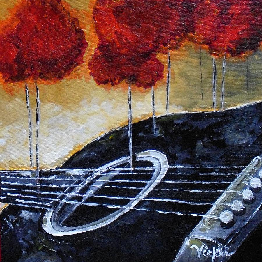 Guitar Painting - Song Of Seasons II by Vickie Warner