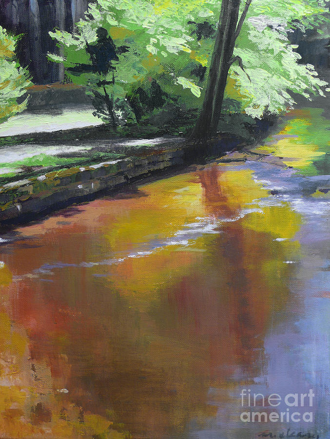 Waterscape Painting - Song Of September by Melody Cleary