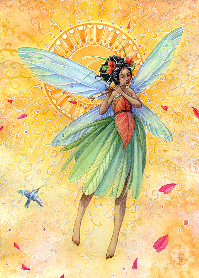 Fairy Painting - Song Of Summer by Sara Burrier
