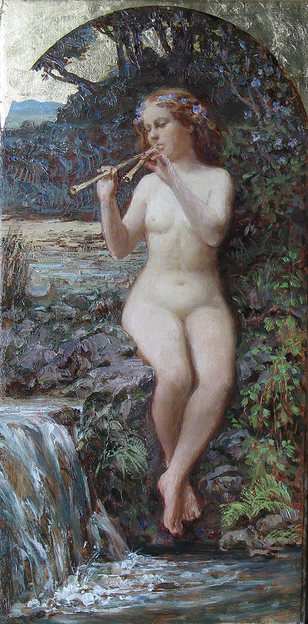 Nude Painting - Song Of Water by Korobkin Anatoly