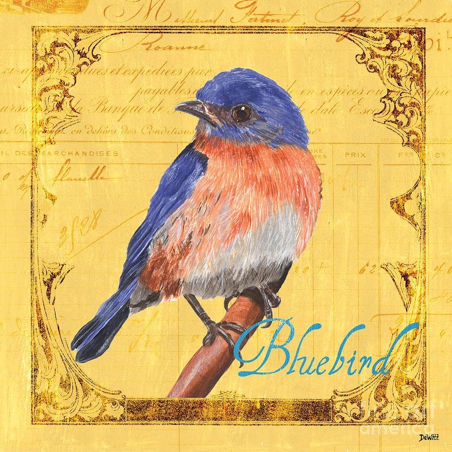 Bird Painting - Colorful Songbirds 1 by Debbie DeWitt