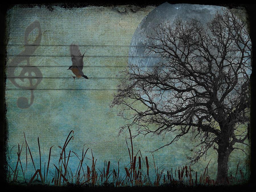 Bird Digital Art - Songbird by Marie  Gale