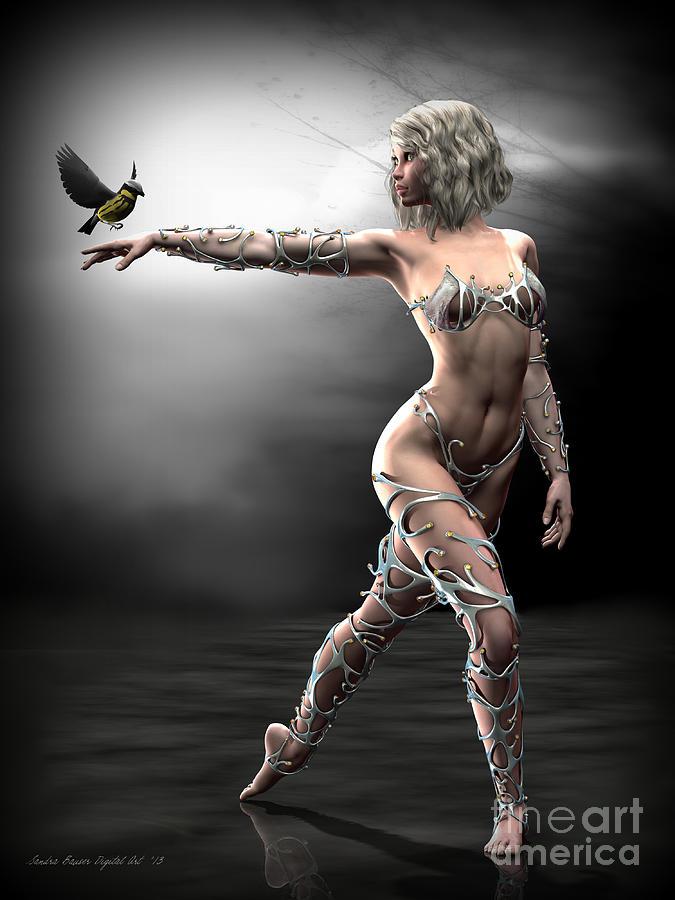 Songbird Digital Art - Songbird by Sandra Bauser Digital Art