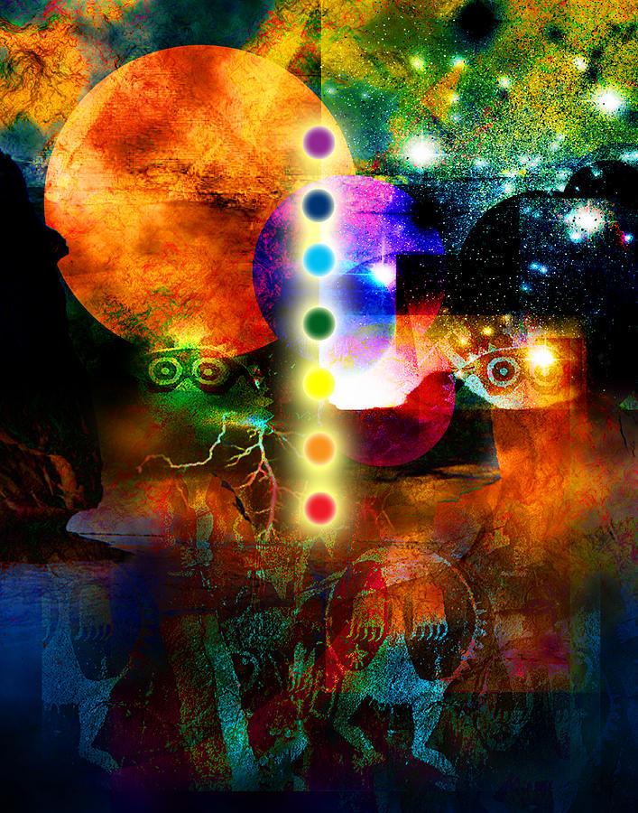 Chakras Digital Art - Sonic Ascension by Bruce Manaka