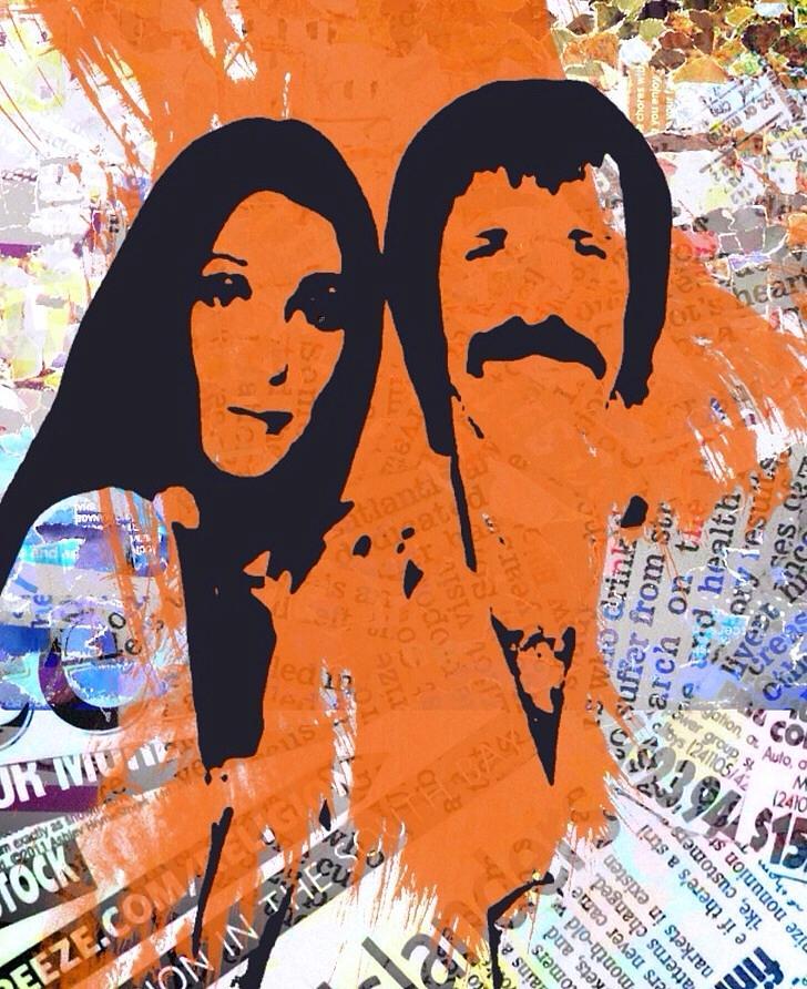 Sonny Bono Digital Art - Sonny And Cher by Trisha Buchanan