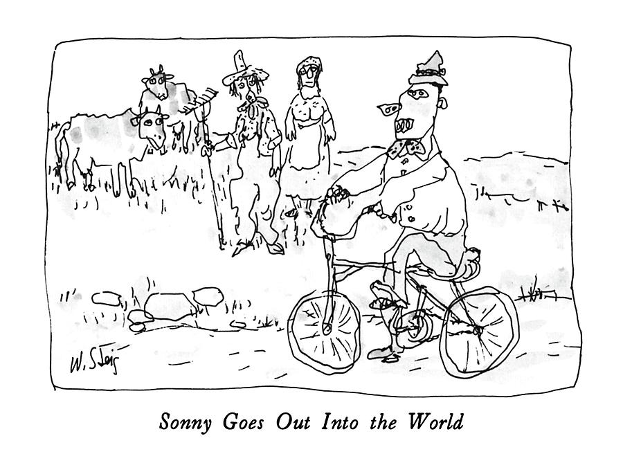 Travel Drawing - Sonny Goes Out Into The World by William Steig