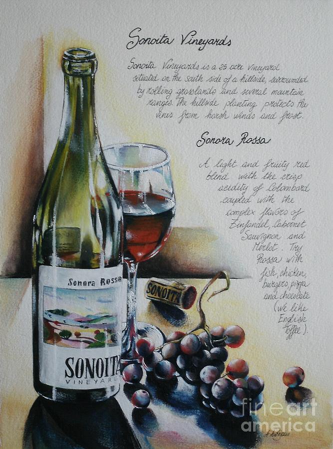 On Demand Painting - Sonoita Vineyards by Alessandra Andrisani