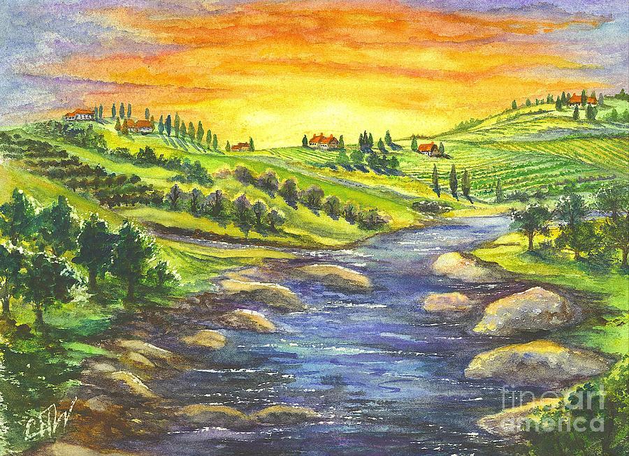 Villa Painting - Sonoma Country by Carol Wisniewski