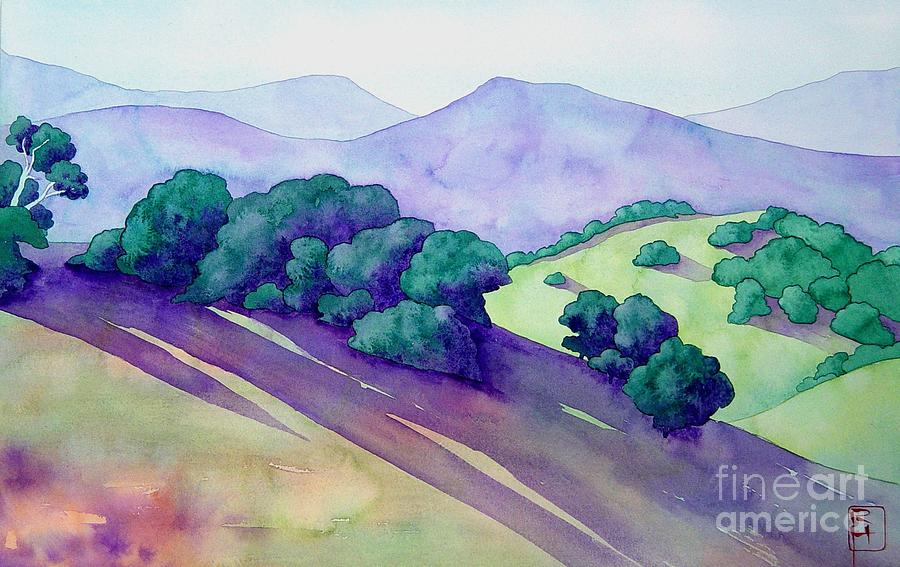 Watercolor Painting - Sonoma Hills by Robert Hooper
