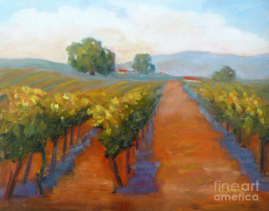 Vineyards Painting - Sonoma Vineyard by Carolyn Jarvis
