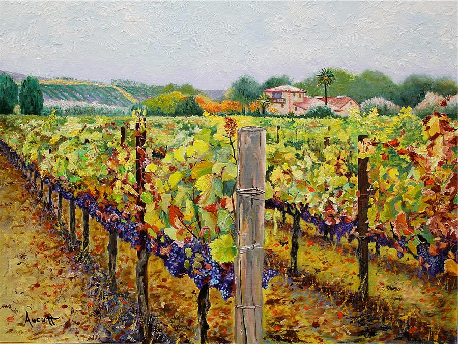 sonoma vineyard painting by ron aucutt