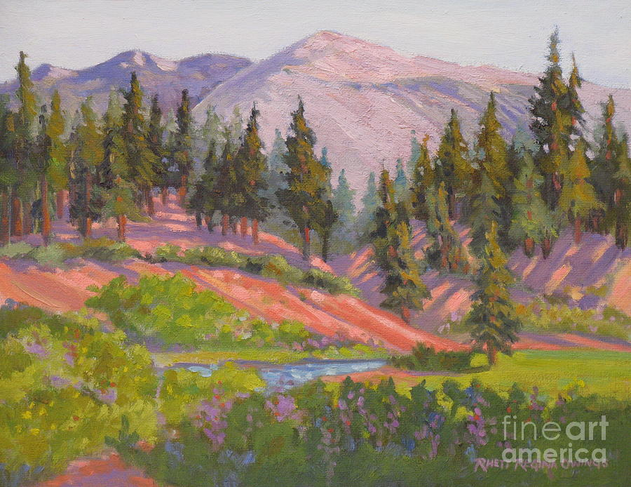 Sierras Painting - Sonora Pass Meadow by Rhett Regina Owings