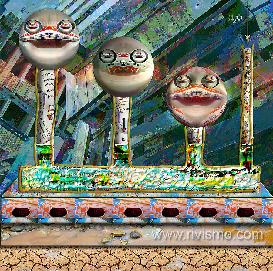 Ramon Rivas Painting - Sonrisa Comunicante by Ramon Rivas - Rivismo