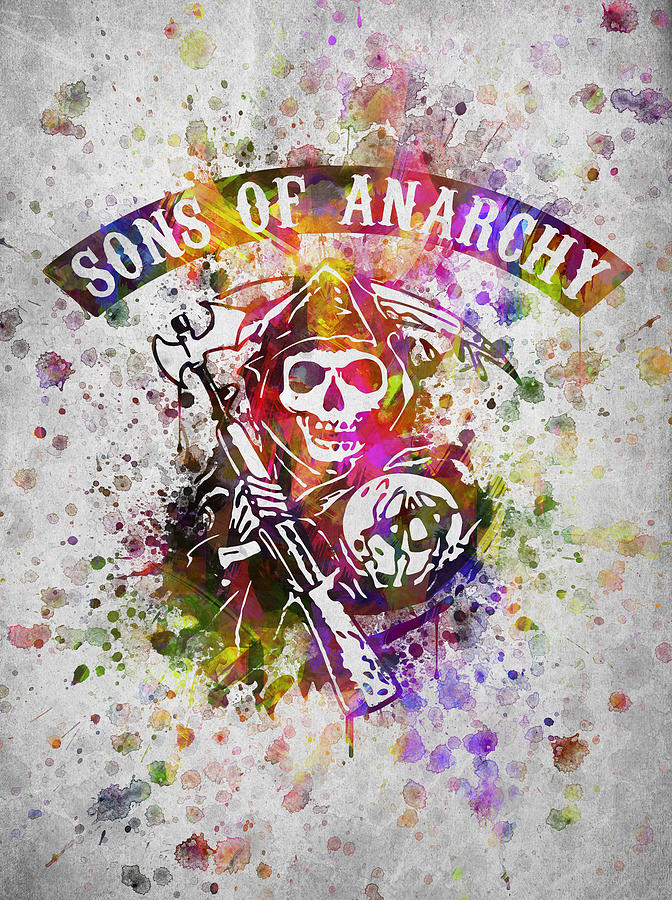 Sons Of Anarchy In Color Digital Art By Aged Pixel